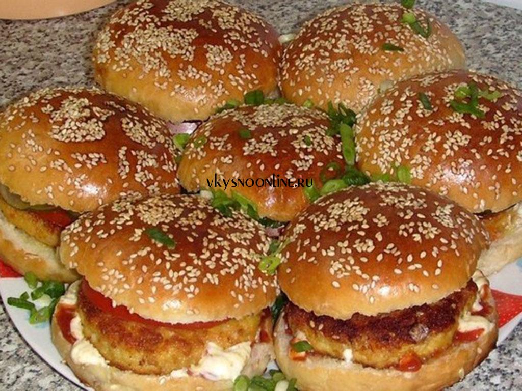Чизбургер в домашних условиях с фото