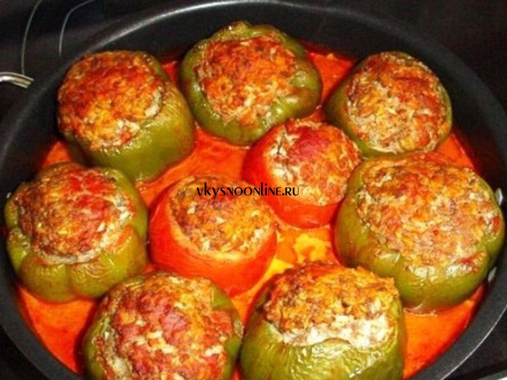 Как приготовить перец фаршированный с фаршем пошаговый рецепт